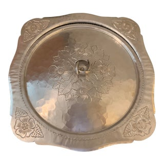 1960's Continental Silver Co, 'Silver Rose', Square Lidded Bowl For Sale