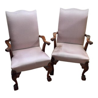 Hickory Chair Vintage Chippendale Chairs- a Pair For Sale