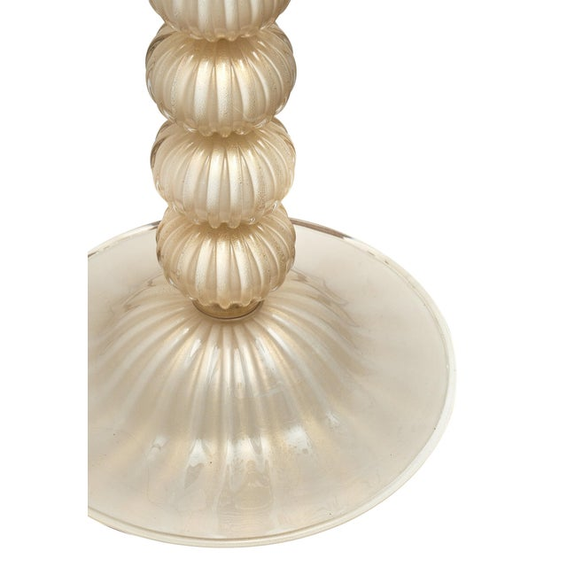 Murano Glass Ivory and Gold Floor Lamps For Sale - Image 9 of 10