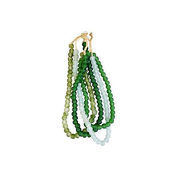 Emerald & Ice Sea Glass Bead Strands - Set of 4 - Image 4 of 4