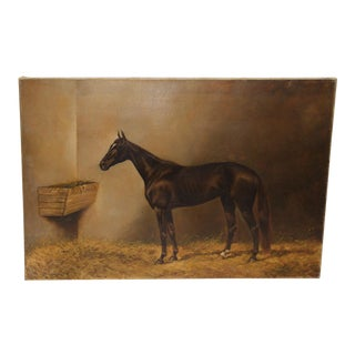 "A Fine Oil Portrait of Thoroughbred ""Star Lily"" by c.b. Fish C.1890"