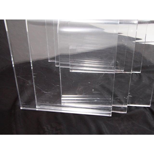 Modern Shlomi Haziza Lucite Nesting Tables - Set of 3 For Sale - Image 3 of 12