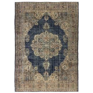 Gorgeous Navy Vintage Distressed Carpet 8'2 X 11'5
