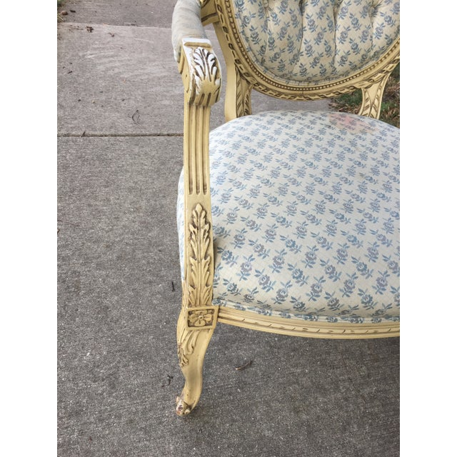 1940s Vintage Upholstered Armchair For Sale In Chicago - Image 6 of 9