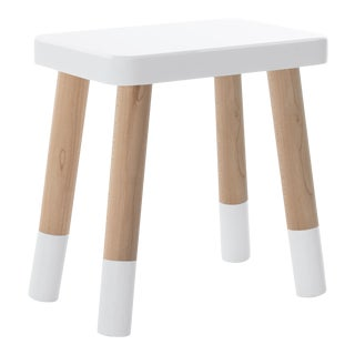 Tippy Toe Kids Chair in Maple With White Finish For Sale