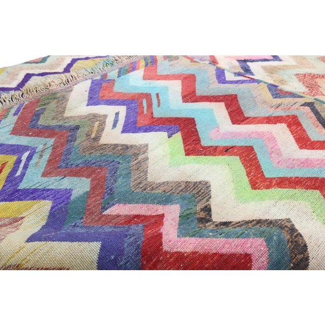 Early 21st Century Contemporary Missoni Style Moroccan Berber Rug - 10′6″ × 13′4″ For Sale - Image 5 of 9