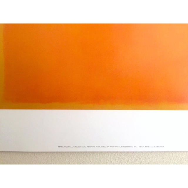 """Mark Rothko Vintage 1990's Abstract Expressionist Lithograph Print Poster """" Orange and Yellow """" 1956 For Sale In Kansas City - Image 6 of 10"""