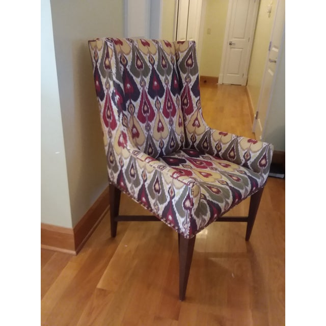 Traditional Modern Pearson Upholstered Chairs- a Pair For Sale - Image 3 of 7