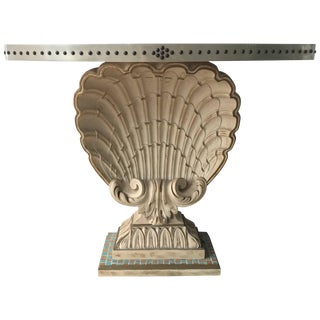 Maison Jansen Shell Demi-Lune Console For Sale