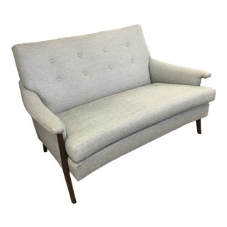 Mid-Century Modern Global Views Loveseat For Sale