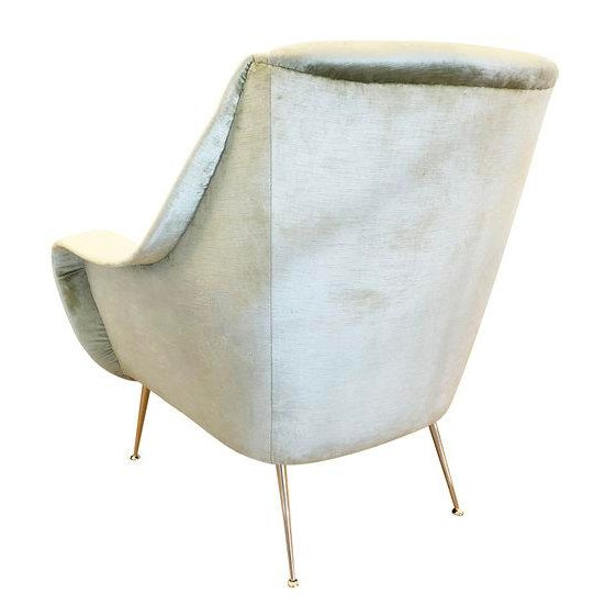 Pair of Light Green Mid-Century Lounge Chairs For Sale In New York - Image 6 of 8
