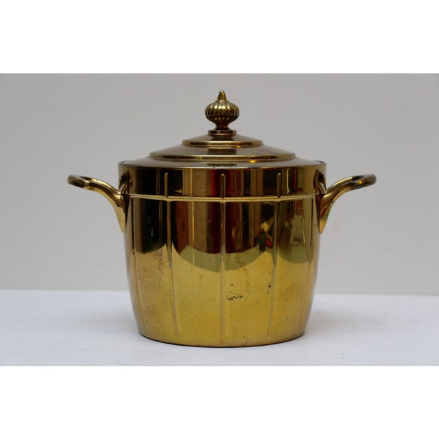 Brass Ice Bucket with Glass Liner - Image 2 of 6
