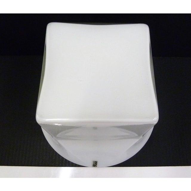 1960s Vintage Sergio Asti for Venini, Murano Mid Century Modern Cased White Glass Vessel For Sale - Image 11 of 13