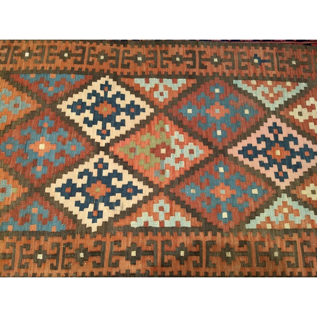 Persian Flat Woven Kilim Runner - 2′10″ × 12′3″ For Sale - Image 10 of 13