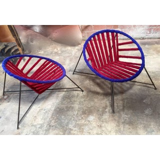 Pair of Italian Club Chairs in Iron and Fabric by M. Tempestini, 1960s Preview