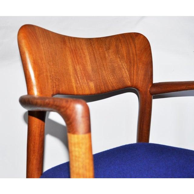 Koefoeds Hornslet One 1960s Mid-Century Modern Koefoeds Hornslet Teak Arm Chair For Sale - Image 4 of 10