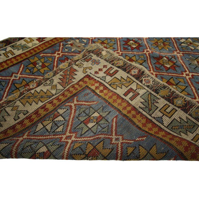 Mid 19th Century 19th Century Russian Caucasian Shirvan Rug - 3′4″ × 4′ For Sale - Image 5 of 6