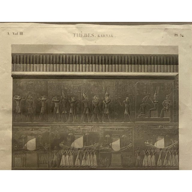 Traditional Engraving of an Egyptian Monument, France Circa 1810 For Sale - Image 3 of 5