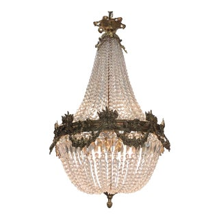 19th Century French Louis XV Style Gilt Bronze and Crystal Chandelier For Sale