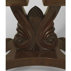 American Empire style (late 19th Cent) mahogany dining table For Sale In New York - Image 6 of 8