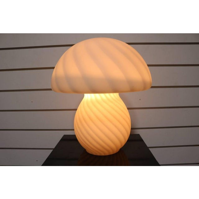 Murano Glass Mushroom Lamp - Image 5 of 7