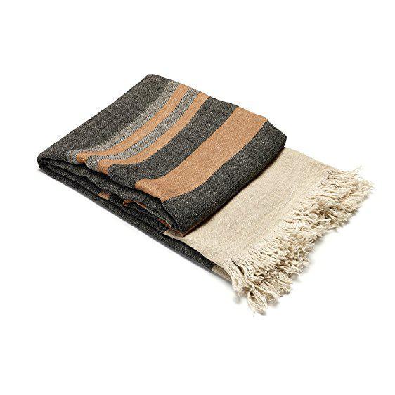 Belgian Black Stripe Towel For Sale - Image 10 of 10