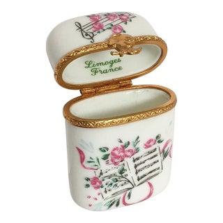 Limoges Sheet Music Floral Box