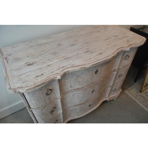Italian White Painted Three Drawer Chest For Sale - Image 4 of 12