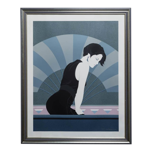 A Framed Art Deco Style Limited Edition Print of a Woman - Image 1 of 5