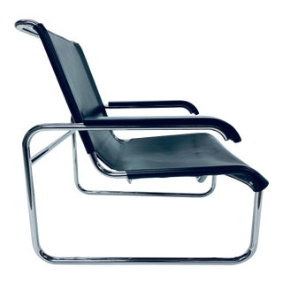 Marcel Breuer for Thonet S 35 Leather Lounge Chair, 1960s For Sale