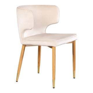 Showroom Sample Kayla Upholstered DIning Chair in Ivory For Sale