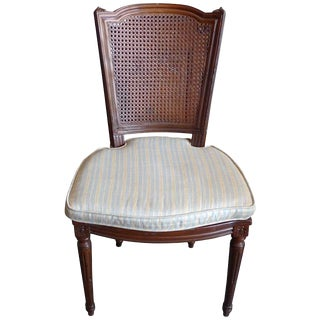 19th Century French Rattan Stained Side Chair For Sale