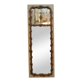French Maison Jansen Style Chinioserie Eglomise Mirror For Sale