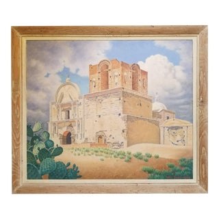Tumacacori Mission Painting by William Norris Dakin For Sale