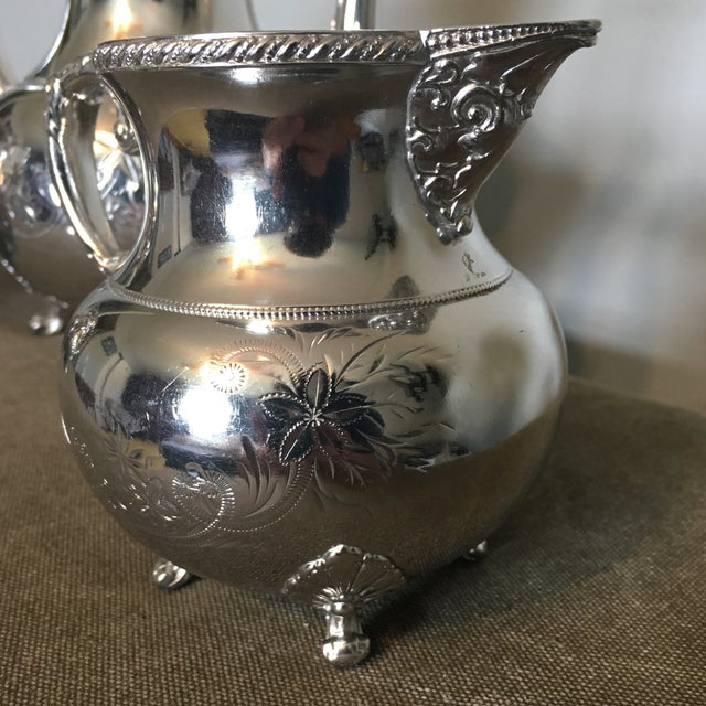 19th Century Victorian Homan Silver Co. Silver Plated Coffee Service - 3 Pieces For Sale In Cincinnati - Image 6 of 10