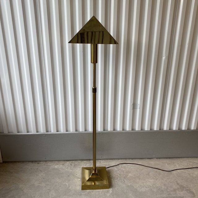 1970s Laurel Lamp Co Brass Plated Telescoping Floor Lamp For Sale - Image 10 of 13