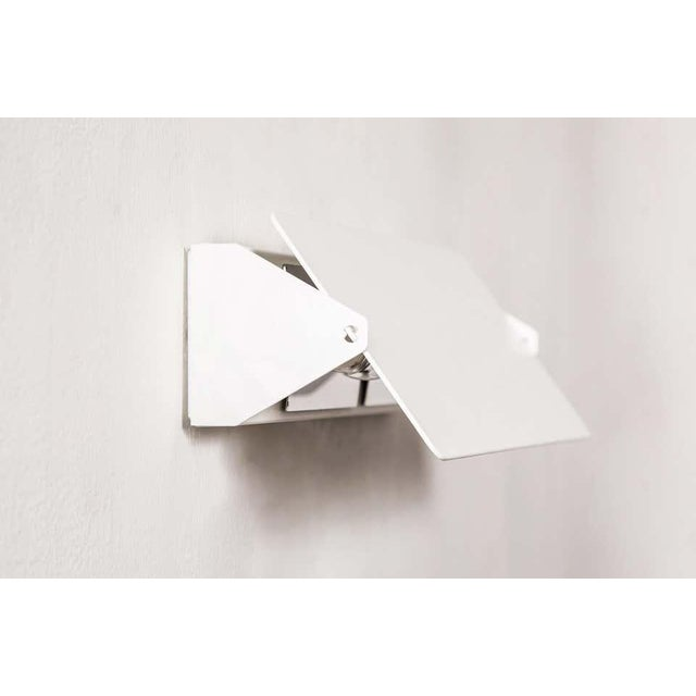 Large Charlotte Perriand 'Applique à Volet Pivotant Double' Wall Lights in White For Sale - Image 10 of 13