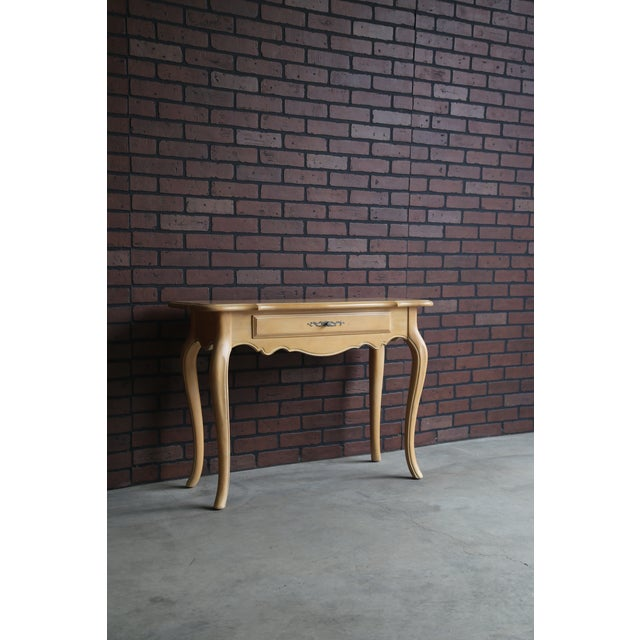 1990s French Country Ethan Allen Console For Sale - Image 6 of 7