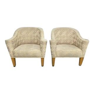 Pair, Designer Josef Hoffmann Villa Gallia Lounge Chairs by Wittmann, Austria, Signed For Sale