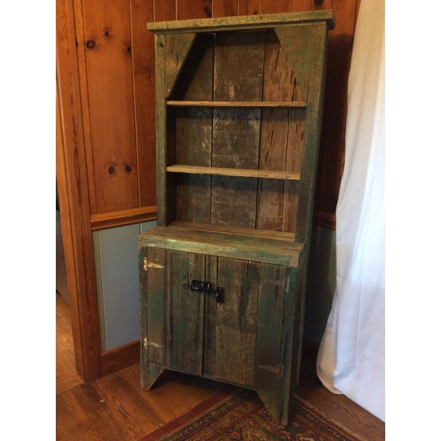 Primitive Wood Green Hutch For Sale In Greenville, SC - Image 6 of 13