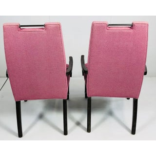 Contemporary Drexel Heritage Pink Tufted Dining Chairs - a Pair Preview