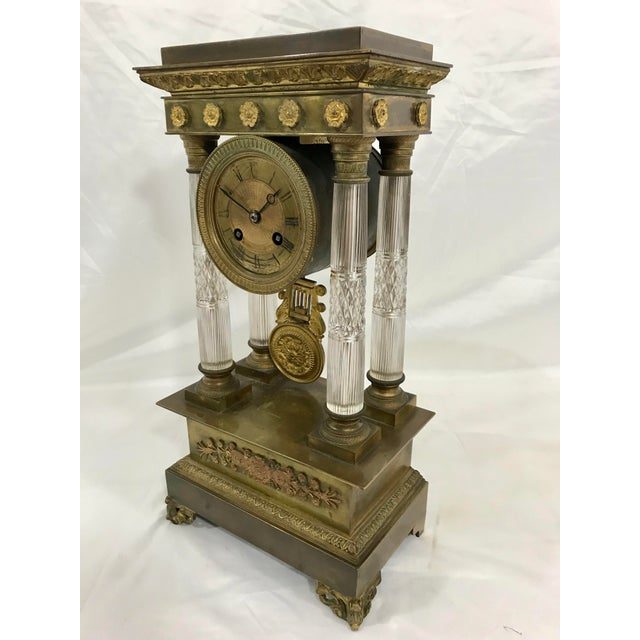 The French word for this is rareseme which describes this French Napoleon III Empire Baccarat mantle clock. The works have...