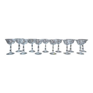 1960s Vintage Mid-Century Modern Cambridge Martini Glasses - Set of 12 For Sale