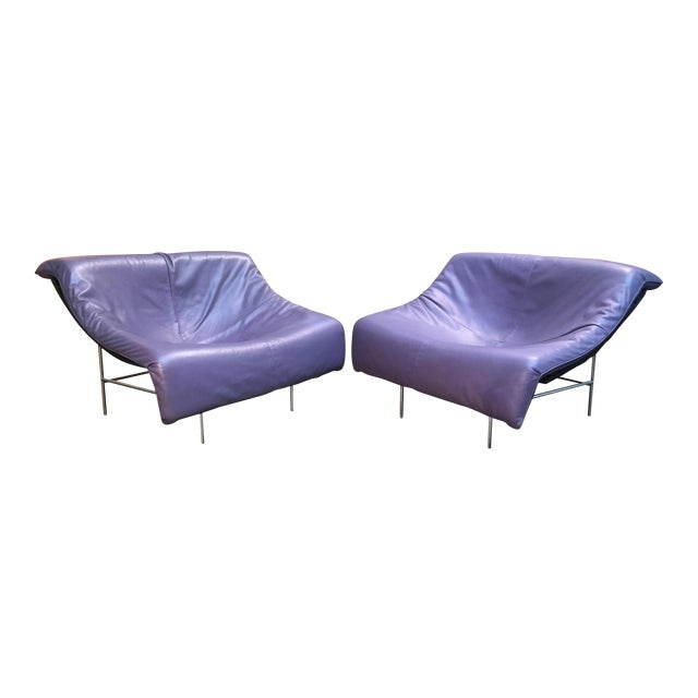 Vintage Mid Century Gerard Van Den Berg Butterfly Chairs- A Pair For Sale