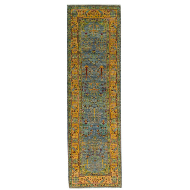 """New Hand Knotted Runner - 2'6"""" x 8'7"""" - Image 1 of 3"""