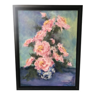 Peonies Oil Painting on Canvas For Sale