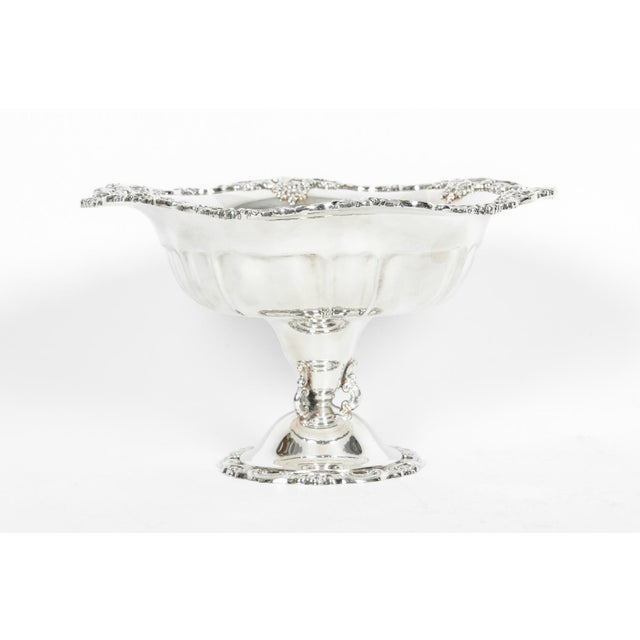 1930s Vintage Silver Plate Fruit Bowl Piece For Sale - Image 5 of 13