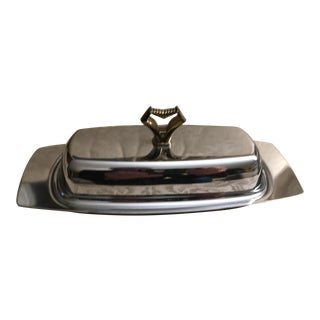 Mid-Century Chrome Butter Dish For Sale
