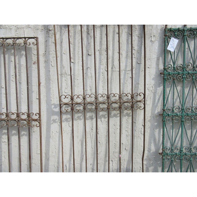 Antique Victorian Iron Salvage Gate For Sale - Image 4 of 6