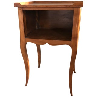 Louis XV Style French Provincial Mahogany Nightstand For Sale